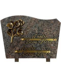 Plaque forme bronze pensées