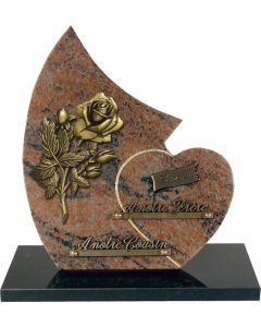 Plaque forme bronze rose