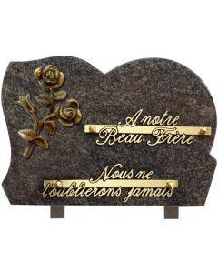 Plaque forme bronze roses