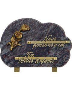 Plaque forme bronze tulipe