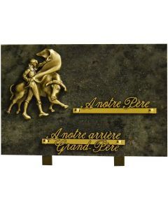Plaque funéraire bronze de corrida 20x30cm