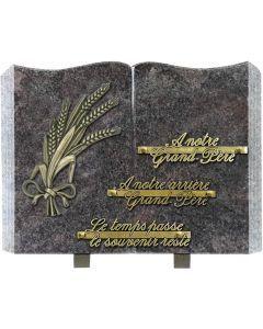 Plaque livre bronze blés