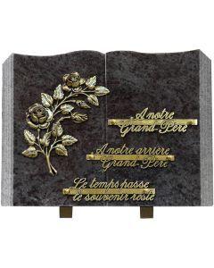 Plaque livre bronze pensées
