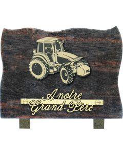 Plaque motif acrylique tracteur 15x20cm