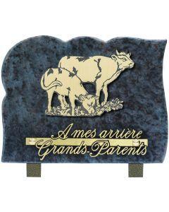 Plaque motif acrylique vaches 15x20cm