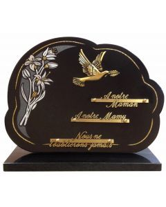 Plaque nuage bronze colombe