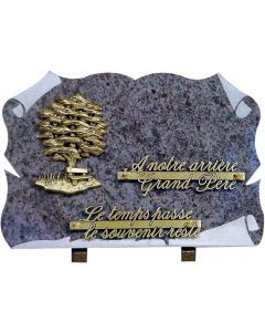 Plaque parchemin bronze arbre