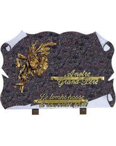 Plaque parchemin bronze pensée