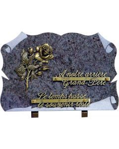 Plaque parchemin bronze rose