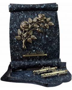 Plaque parchemin bronze roses
