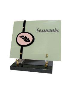 Plaque rectangle motif plume