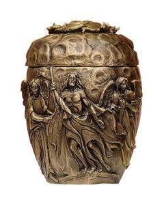 Podei - Urne en bronze sculptée