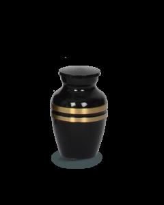 Reliquaire Noir avec bandes couleur bronze