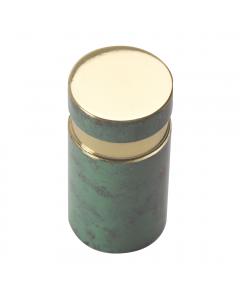 Rotund - Urne cylindrique bronze vert