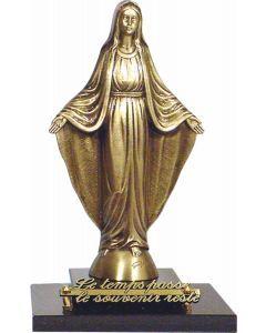 Statue Vierge Marie sur double socle