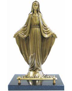 Statue Vierge Marie sur socle