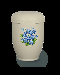 Urne biodégradable fleure bleu