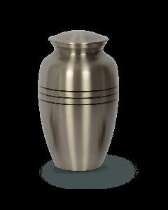 Urne bronze couleur argent