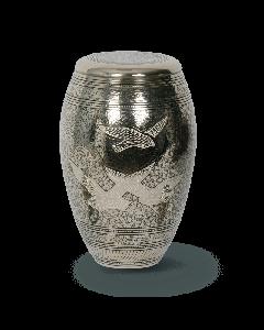 Urne bronze motif colombes
