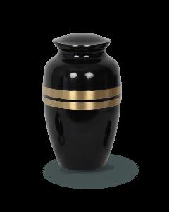 Urne bronze noir avec liserés or