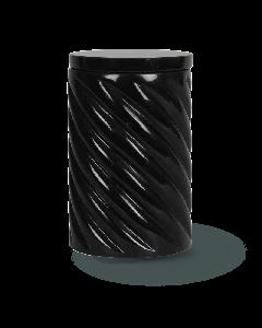Urne sculptée corde noir fin