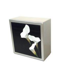 Zenla - Urne inox motif arum