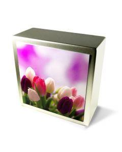 Zenla - Urne inox motif tulipes