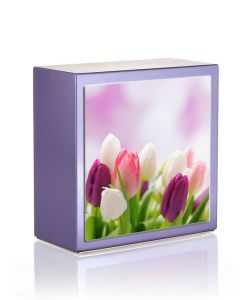 Zenla Parme - Urne inox motif tulipes